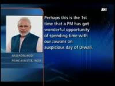 News video: Prime Minister Narendra Modi visits Siachen to greet soldiers on Diwali